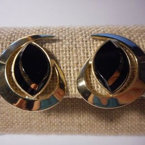 Vintage Sarah Coventry Crescent Moon Clip Earrings
